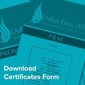 Download Certificates Form